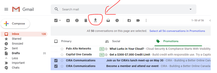 how to extract emails from gmail