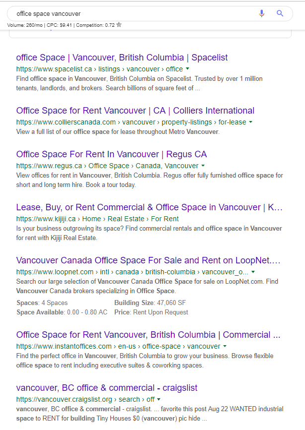 Office space vancouver - page 1 google